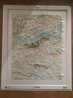 PÉCS 3D műanyag domborzati térkép