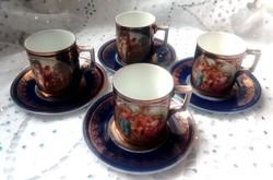 Mitológiai jelenetes Altwien kávés csészék 4 db együtt