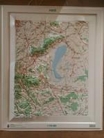 FERTŐ 3D műanyag domborzati térkép