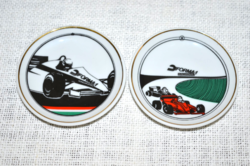2 db Forma 1 mini fali tányér
