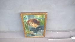 Rejtélyes Hölgy portré (hátulján Engel Dezső)