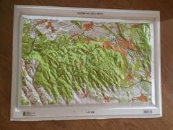 Soproni – hegység 3D műanyag domborzati térkép MH Zrínyi