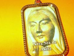 """Akita """" Kelet Fatima"""" Szűz Mária üzenete a világnak töltött Arany GF. Medál 1."""