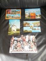 5db Tájképes postatiszta képeslap