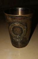 Antik  klasszicista keresztelő pohár.Mérete:8 cm magas.