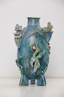 Gádor vagy Wiener Werkstätte váza erősen restaurált 45 cm