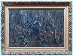 Orvvadászok akcióban Olaj vászon festmény 1903