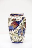 Zsolnay Váza lótuszvirággal és madarakkal, 1883