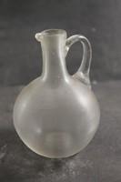 Antik szakított hutaüveg kancsó 130