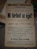 1895-ös színház plakát, A3-as környékén