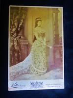 ERZSÉBET KIRÁLYNÉ SZISZI EGÉSZ ALAKOS EREDETI JELZETT FOTÓ FÉNYKÉP KUK HABSBURG 1860