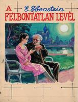 Földes Imre eredeti akvarell borítóterve az 1930-as évekből (A felbontatlan levél- Színes Regénytár)