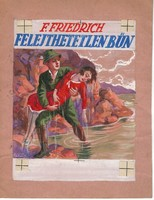 Földes Imre eredeti akvarell borítóterve az 1930-as évekből (Felejthetetlen bűn- Színes Regénytár)