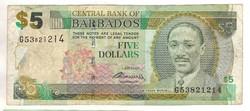 5 dollár 2007 Barbados