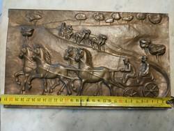 Zsűrizett kèpcsarnokos Kampfl Jòzsef bronz lovas fogat