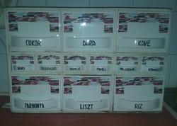 Kispesti Gránit fűszertartó, fűszeres, fiókos szekrény