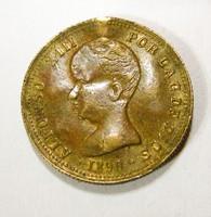 1890. Alfonso XIII. Manila. 4 peso másolat.