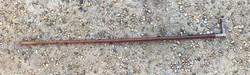 Antik bőr lovaglópálca, huszár hagyaték, ezüstözött fogantyúval benne gravírozott monogram
