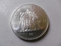 Ezüst  50 Francs Hercules UNC