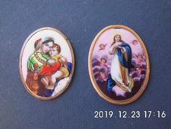 2 db arany Mária medál,javításra szoruló állapotban