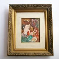 Kondor Béla - Király aranyórával című festménye