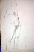Bernáth Aurél : Grafika I . férfi. Mérete:21x29 cm.