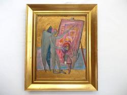 Kondor Béla - Festő Angyal című festménye