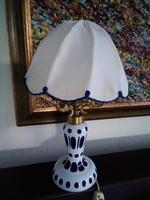Antik Biedermeier lámpa, eredeti ernyőjével réz szerelékkel a Monarhiából!