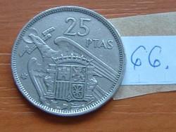 SPANYOL 25 PESETA 1957 66.