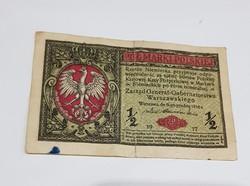 1917-es Lengyel Fél Márka.