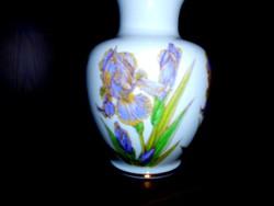 Hollóházi porcelán váza  irisz minta