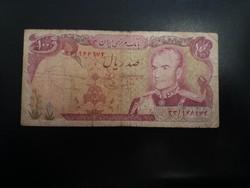 Viseltes 100 Riál, Irán.