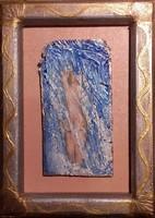 Az akt és a vízesés 18x13cm kerettel. Parafa kép egyedi keret. Károlyfi Zsófia Prima díjas alkotótól