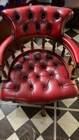 Chesterfield Captains Leather Office Chair(irodai forgós szék)