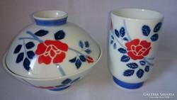 3 db-os japán kézzel festett egyedi virág díszítésű szett