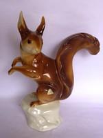 Életnagyságú Royal Dux mókus