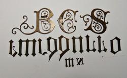 Cifra, díszes réz betűk