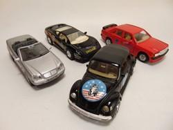 4 darab Welly kisautó modell Jaguár , VW, Mercedes , - Benz