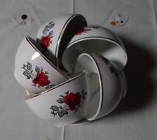 Gránit, rózsás (teás) csészék