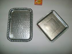 Retro alumínium tálca - két darab
