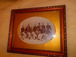 Antique large military group photo .Frame