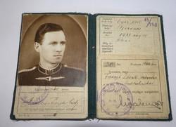 Világháborús szolgálati igazolvány,Haditechnikai Intézet.1944.