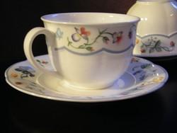 Nagyon szép Villeroy & Boch Mariposa Bone China porcelán teásbögrék aljjal 2 pár