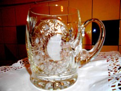 Ólomkristály  üveg korsó