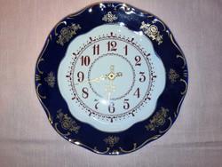 Zsolnay porcelán óra pompadour 1.