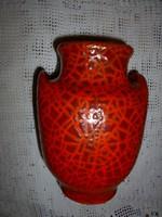 Gorka stílusában retro kerámia  váza, 19 cm