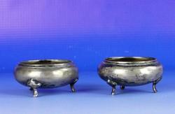 0E725 Régi ezüst szószos sótartó 2 db 48 g
