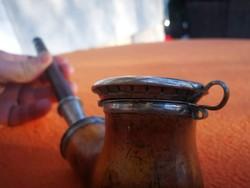 Antik tajték pipa ezüst dísz