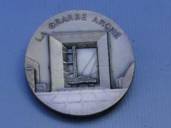 0C379 LA GRANDE ARCHE jelzett ezüst emlékplakett