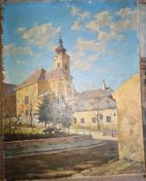 Franz Rudolf Ullmann, Kisváros, olaj 30x35